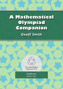 Cover of A Mathematical Olympiad Companion