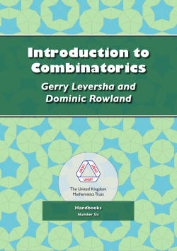 Cover of Introduction to Combinatorics