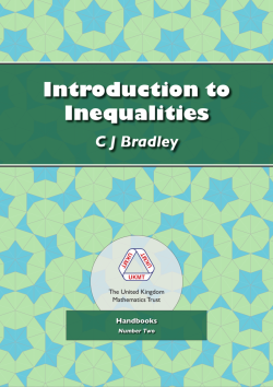 Cover of Introduction to Inequalities