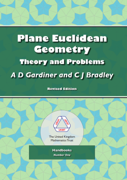 Cover of Plane Euclidean Geometry