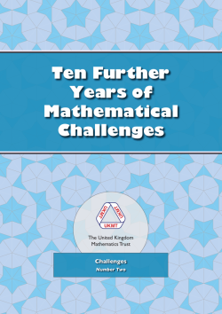 Cover of Ten Further Years of Mathematical Challenges