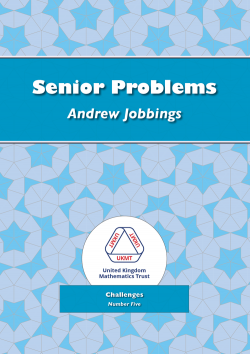 Cover of Senior Problems