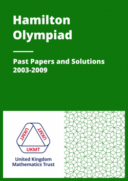 Past Papers: Hamilton Olympiad 2003-2009 cover