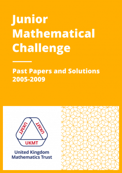 Past Papers: Junior Mathematical Challenge 2005-2009 cover