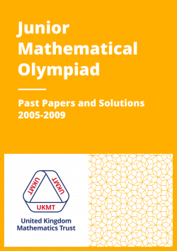 Past Papers: Junior Mathematical Olympiad 2005-2009 cover