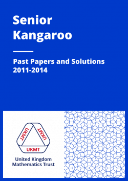 Past Papers: Senior Kangaroo 2011-2014 cover